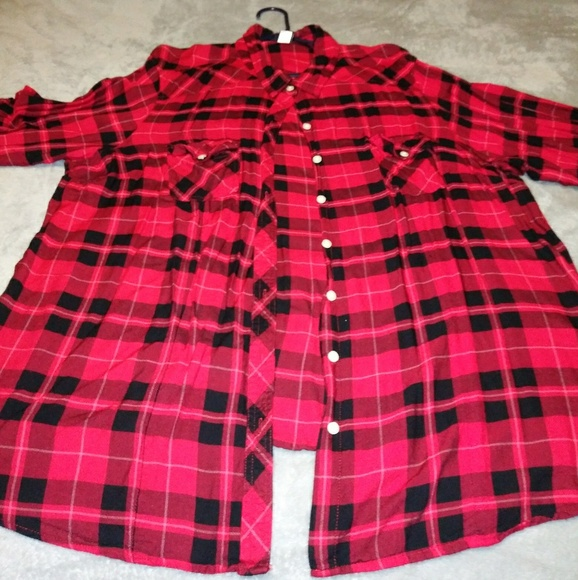 torrid Tops - Torrid Red and Black Flannel